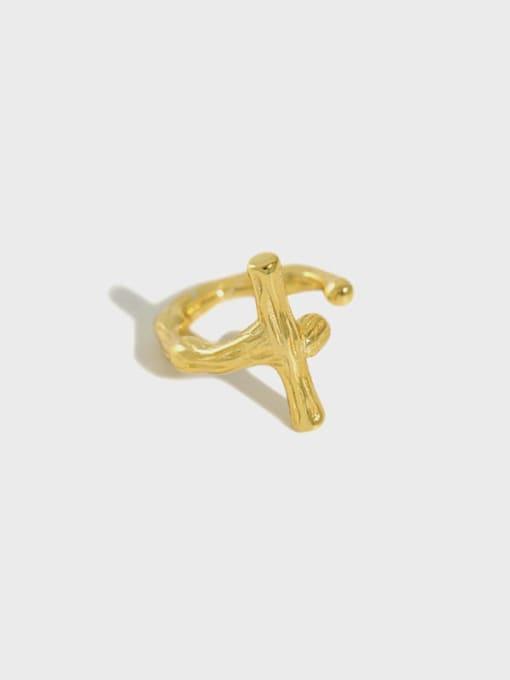 Dak Phoenix 925 Sterling Silver Cross Minimalist Stud Earring[Single] 0